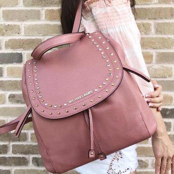d3c8bddcc14672 Michael Kors Bags | Riley Large Backpack Rose Stones | Poshmark